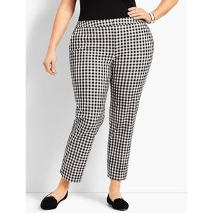 talbots gingham hampshire ankle pants